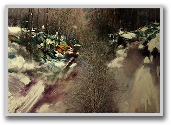 Landslide Watercolor