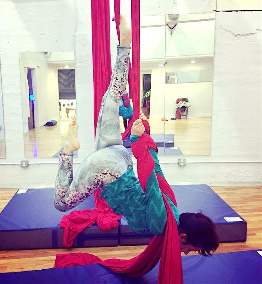 Tanvi in her Aerial Class