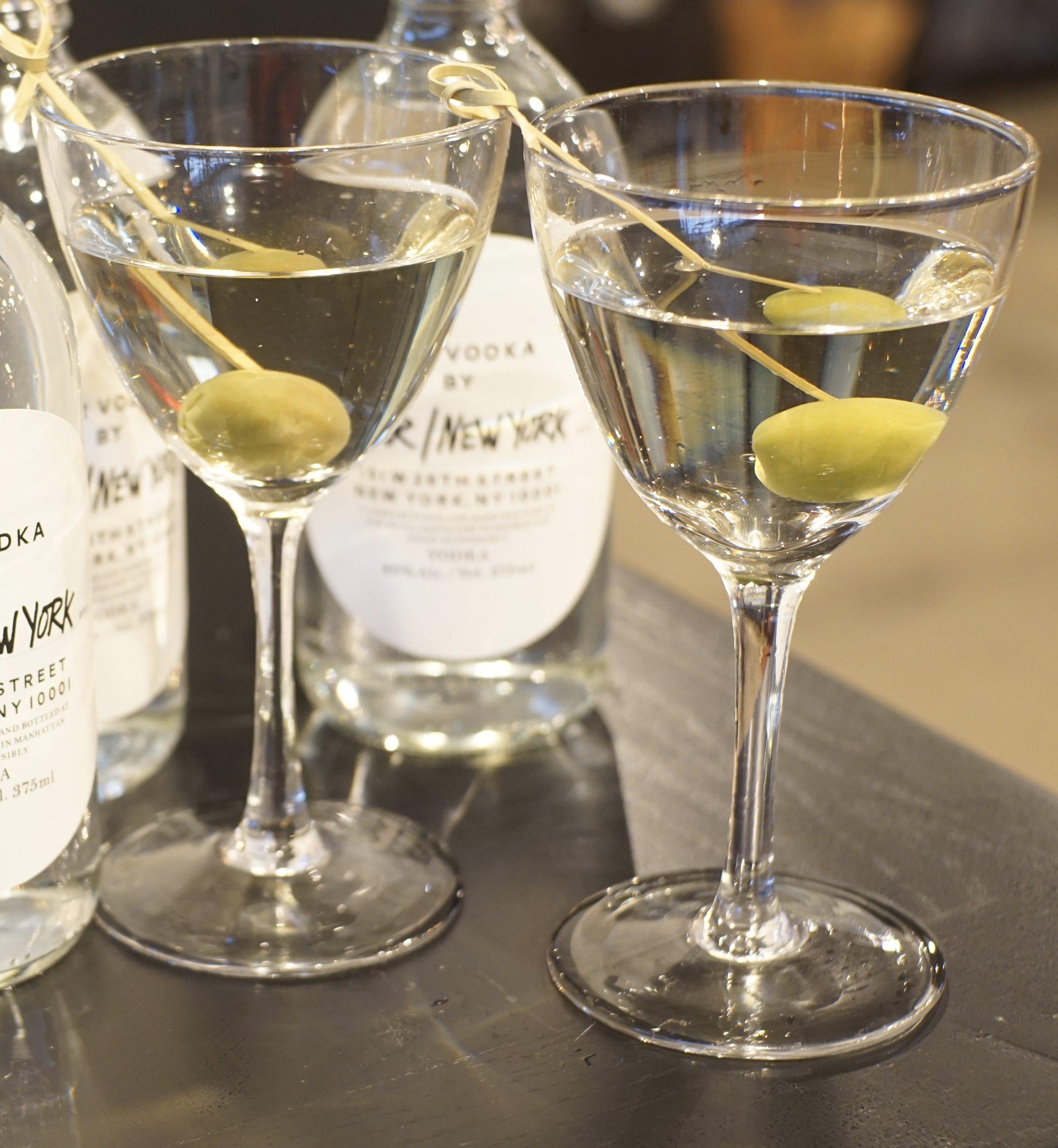 Our/Cocktails - Our/Martini2oz Our/New York Vodka1/2 oz Fino Sherry1/2 oz Dry VermouthDash of Orange BitteresCastelvertrano Olive