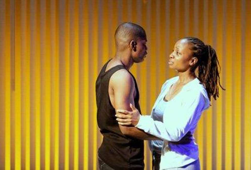 Antwan Ward (left) and Melanie Nicholls-King (right) in Linda Faigao-Hall's THE A WORD (photo credit: Carlo Damocles) Cover Photo