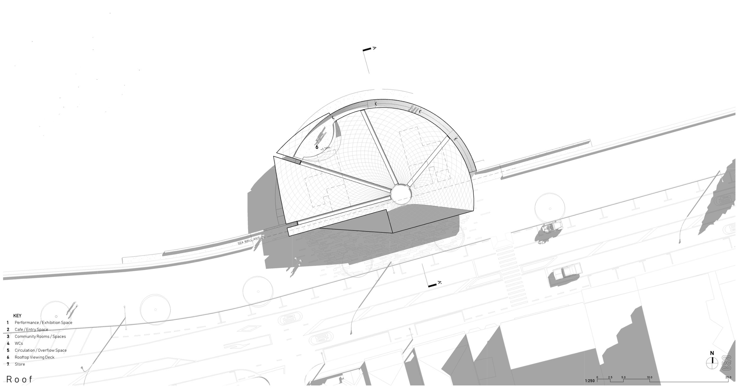 Oriental Bay Competition, Wellington - Roof Plan