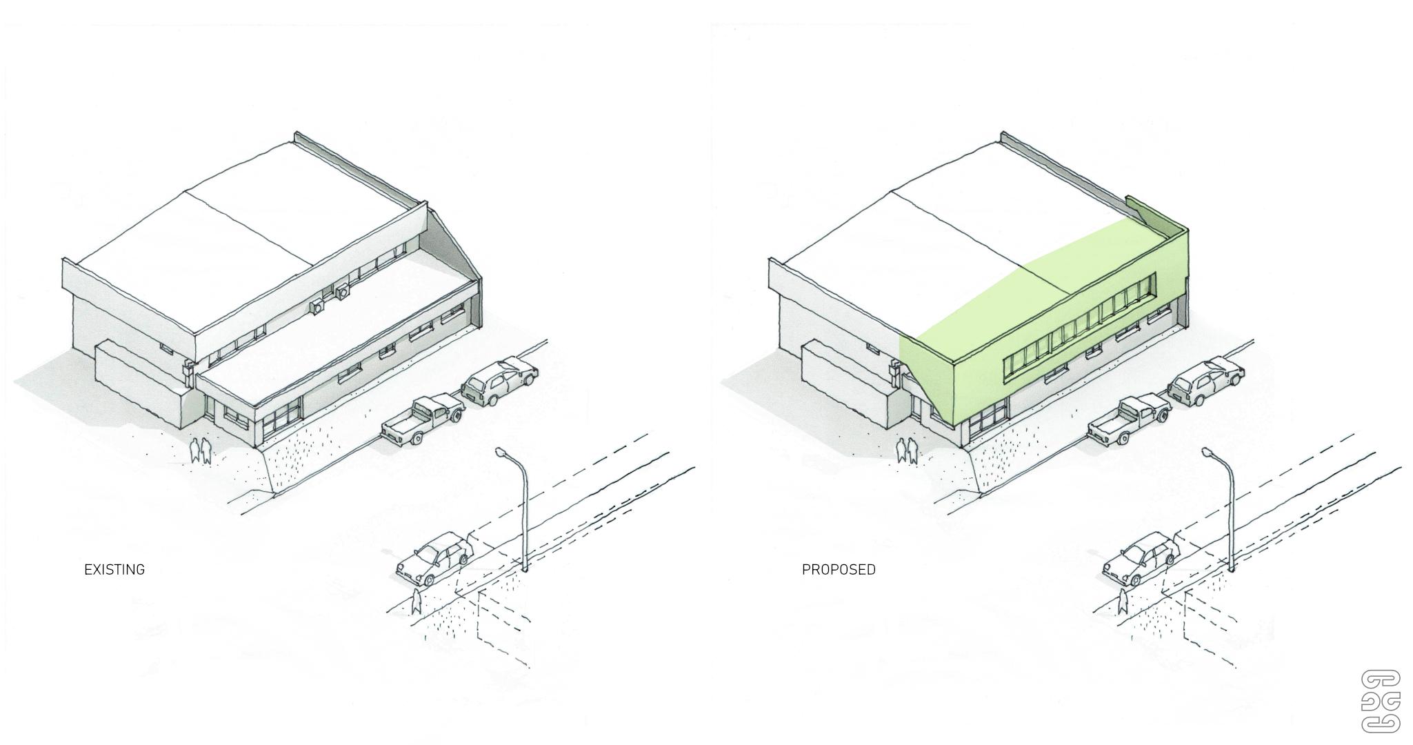 Office Extension - Tauranga, Axonometric