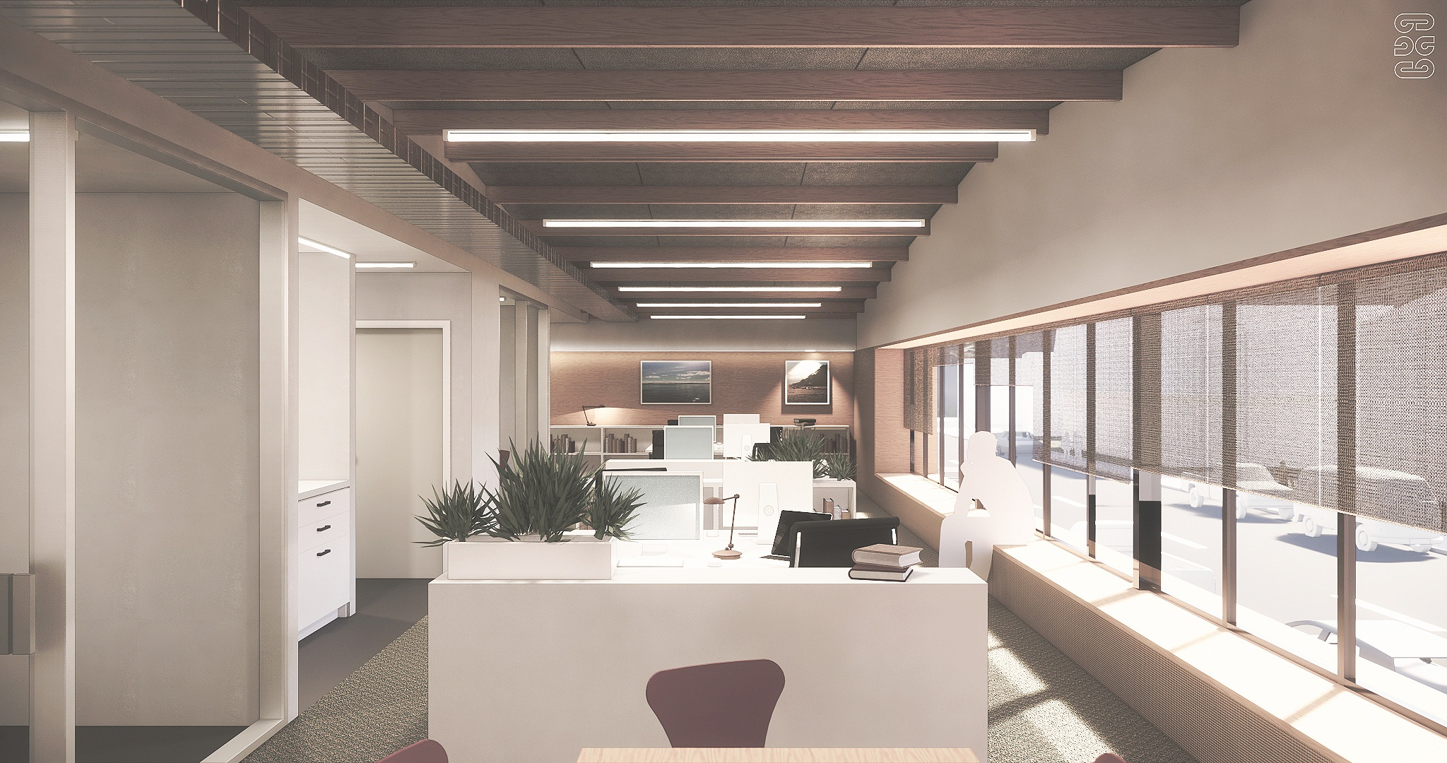 Office Extension - Tauranga, Interior Perspective