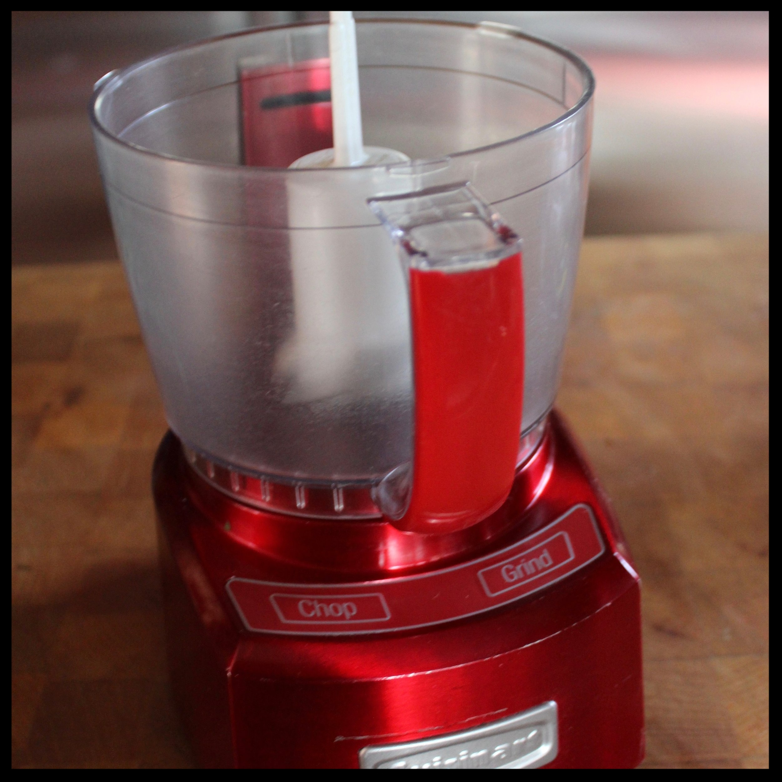 - food processor, blender or mortar and pestle (I use a small mini-chop for this - I have to say it holds the ingredients exactly (2 cup capacity) and makes for much easier cleanup. I'm ALL about that!)  - container with lid and extra olive oil