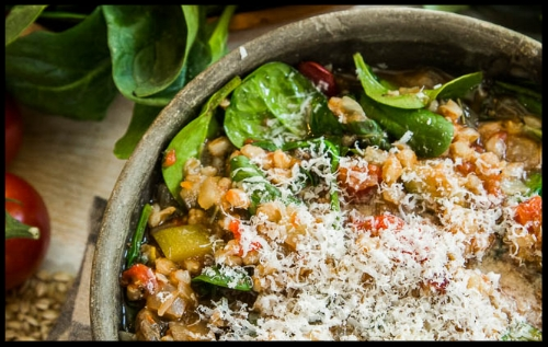 IS IT SOUP YET?  Here's a vegan/vegetarian minestrone that's EASY to make, loaded with tons of flavor, nutrient dense, and simply DELICIOUS! Enjoy the soup and there's plenty to share with friends and family.  Photo: courtesy of  Jeremy Lee Photography