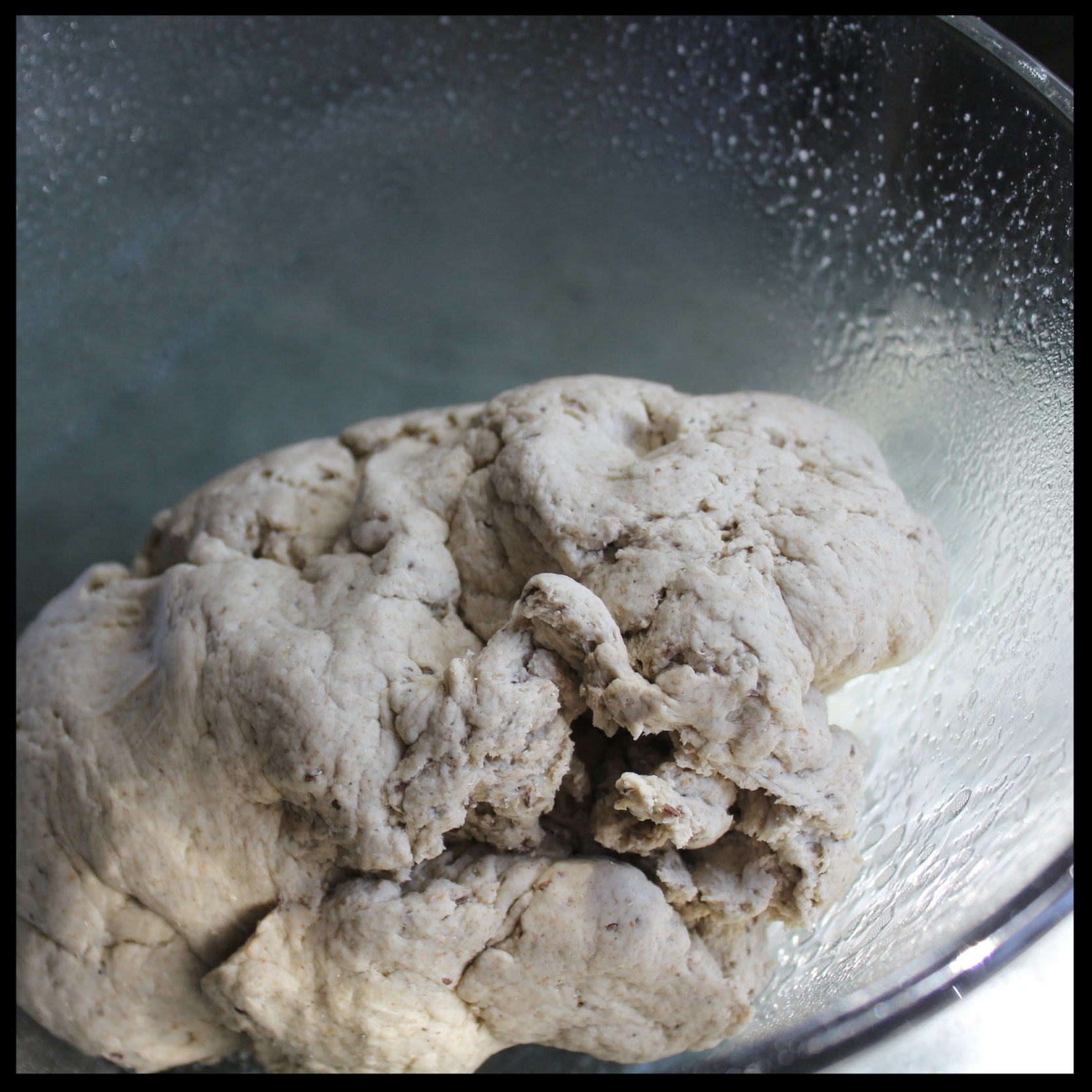 9. Plop that dough down in the greased bowl.