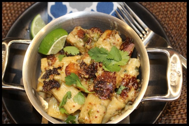 If you are a Zingerman's Mac & Cheese fan, and love the heat of a good Poblano, this Poblano Mac is for you. It's made on the stovetop and is sure to be a hit when you are craving a little South-of-the-Border meets Comfort Food! Enjoy!