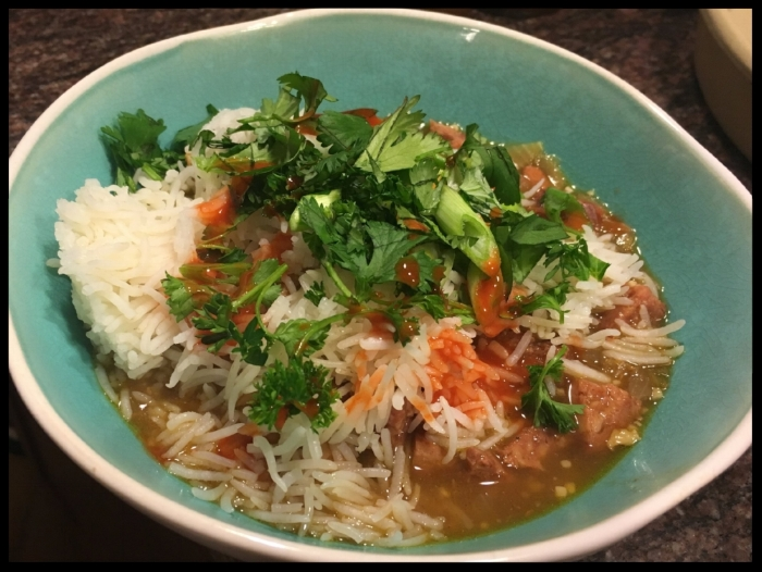 "SOHEILA's QUICK & EASY CHICKEN & SAUSAGE GUMBO  with ""OVERNIGHT"" Basmati Rice"
