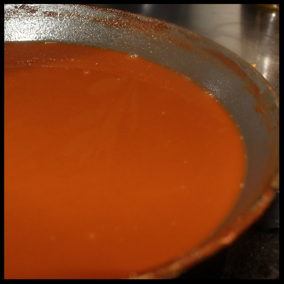 90 minutes:   I combined both roux and continued cooking on the stovetop until the 90 minute mark. This, to me, is the holy grail of roux! - deep, dark, rusty, full of complex nutty aromas. Let it cool for a few hours in the fridge and then freeze in ice cube trays for future use. You'll have an ever ready source of flavor for any soups, stews, meaty sauces or gumbos you create!