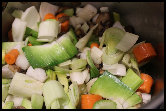 Components of a lovely vegetable stock