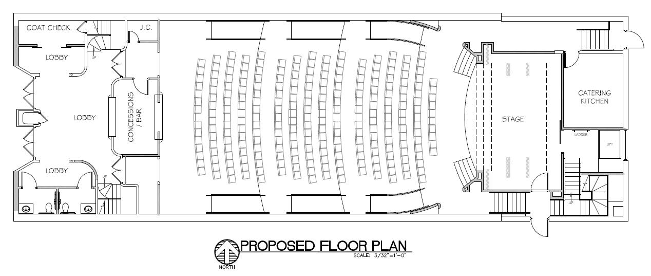 Theater / auditorium floorplan layout