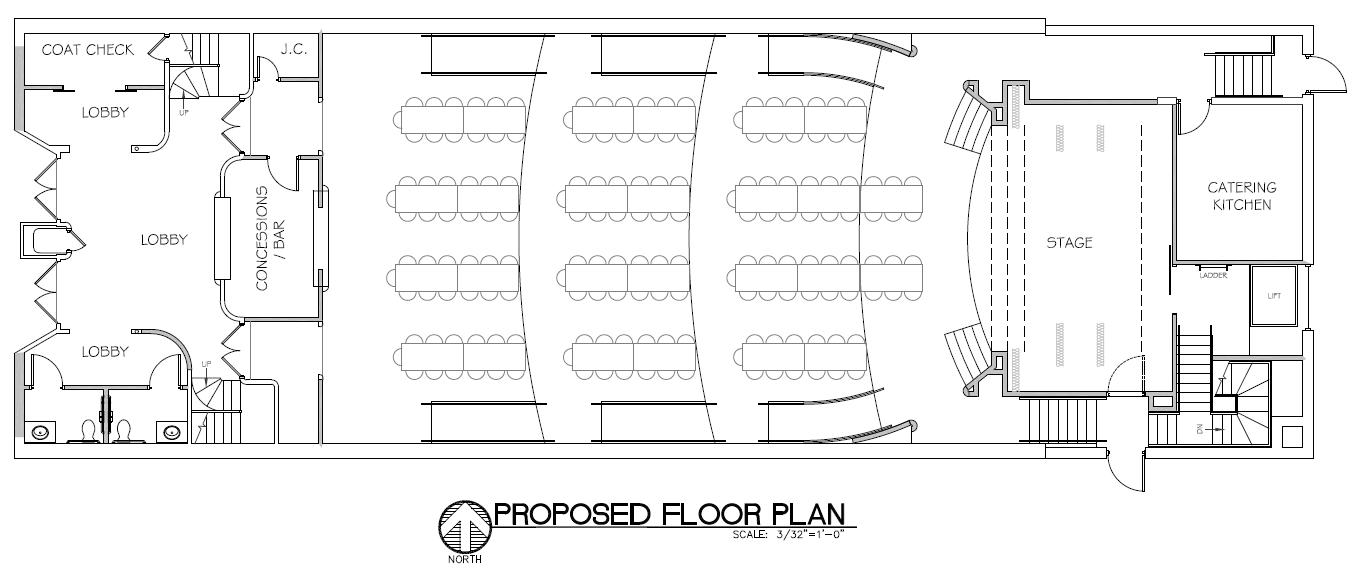 Banquet floorplan layout