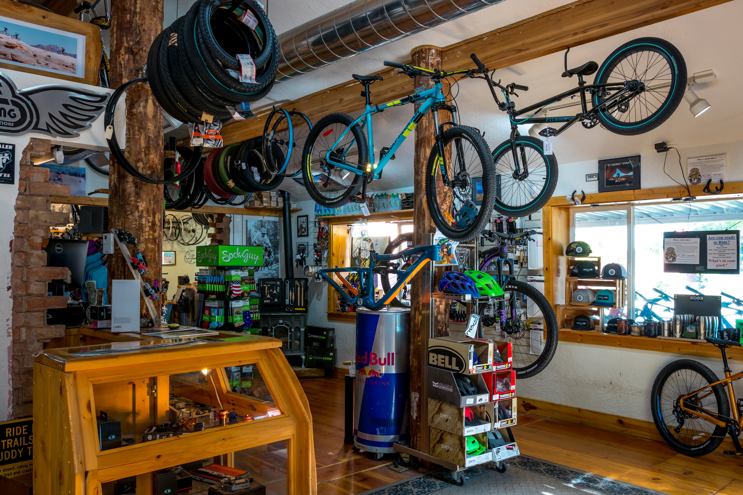 This is the coolest bike shop we've ever been to!