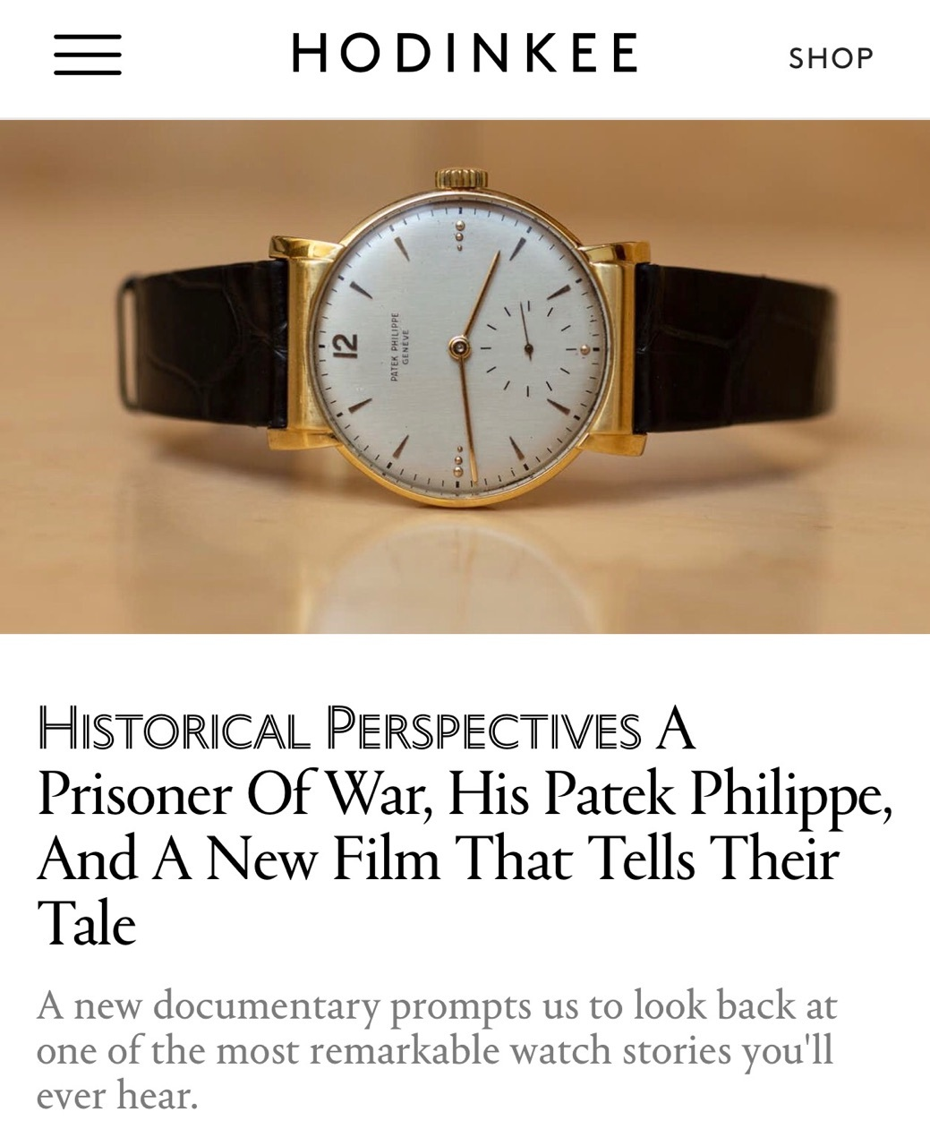 Excerpt by Jason Heaton - Jason describes a story within the film that lasts 5 1/2 minutes within the 105 minutes of the full documentary. The watch story is highly impactful offering tremendous hope and joy to my Uncle and his fellow PoWs in Stalag Luft III.