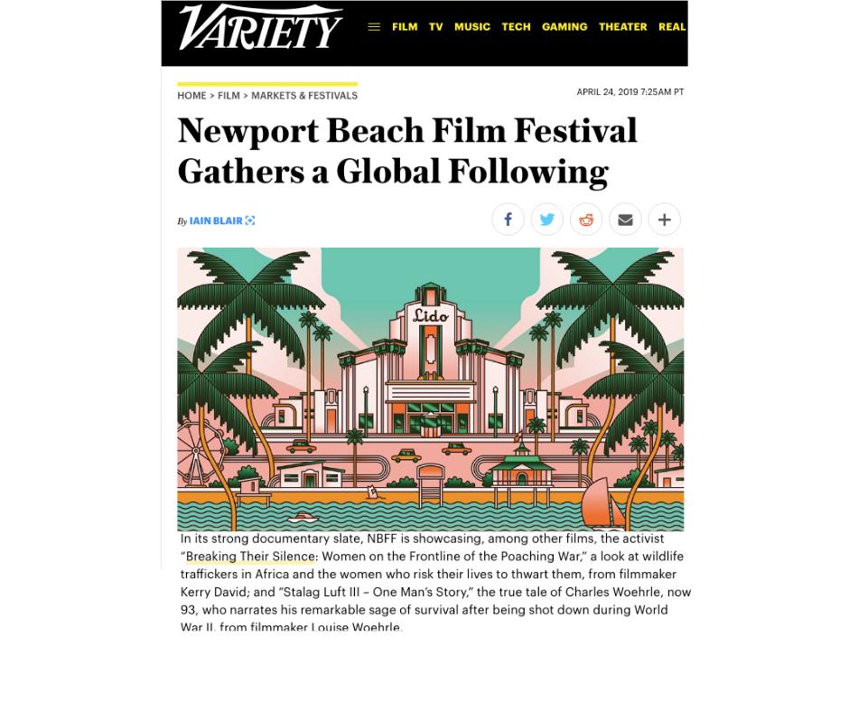 VARIETY article  https://variety.com/2019/film/markets-festivals/newport-beach-film-festival-2019-1203196168/