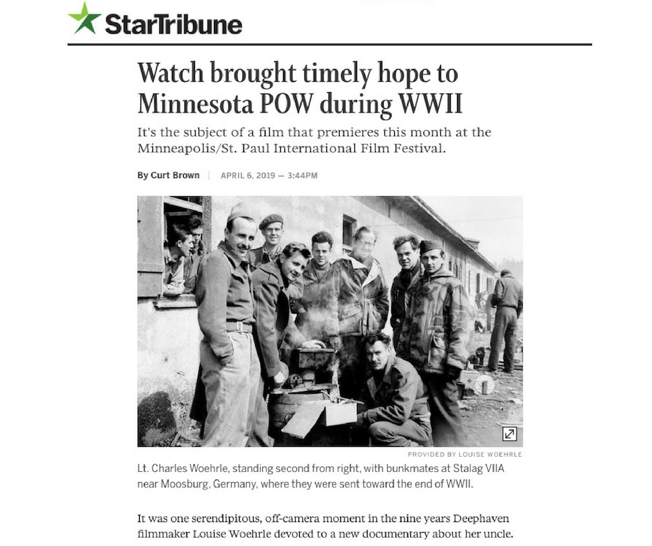 Click here for the  Star Tribune  article by History Columnist Curt Brown:  http://www.startribune.com/watch-brought-timely-hope-to-minnesota-pow-during-wwii/508213612/