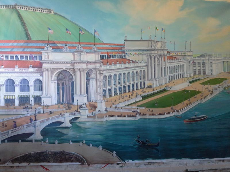 Manufacturer's Building 1893 World's Fair, Columbian Exposition  — Painting in Progress in Studio —