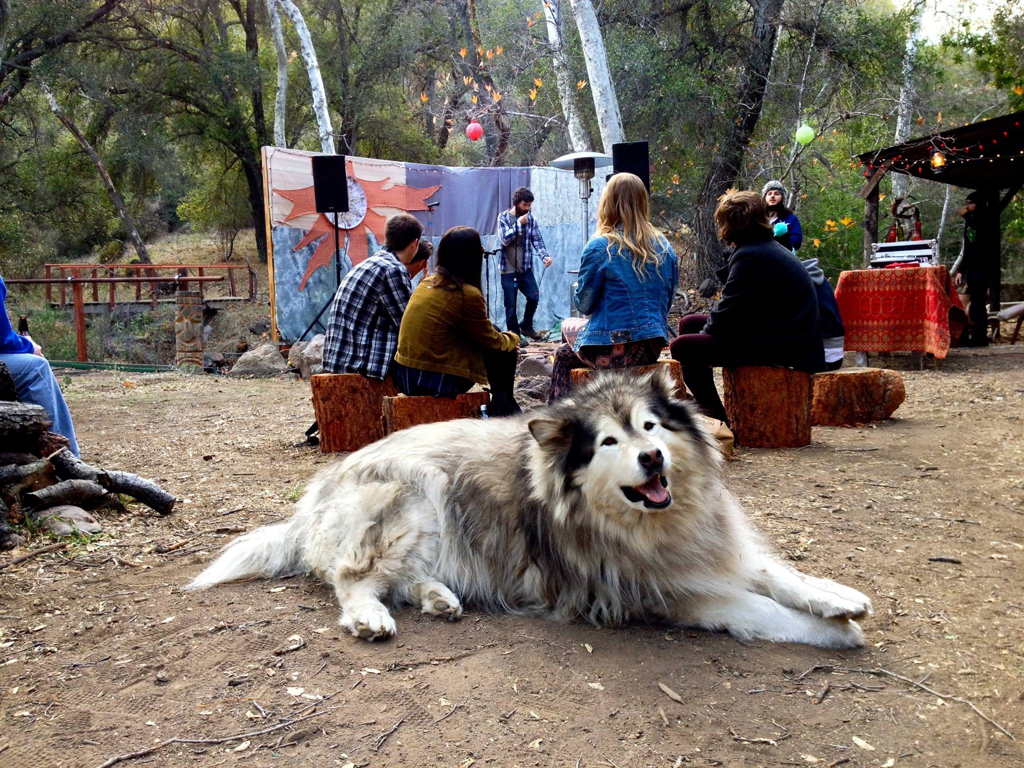 Emceeing the Palmer Squares Backcountry BBQ in the Malibu Hills, January 2016.