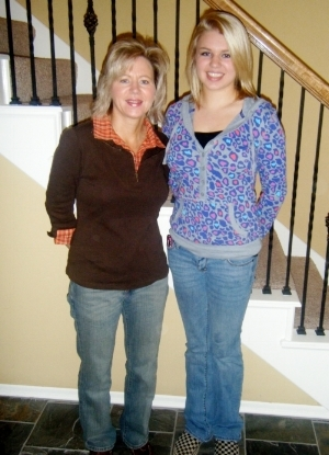 Mom and me in 2009. Not overweight, but I thought I was too big.