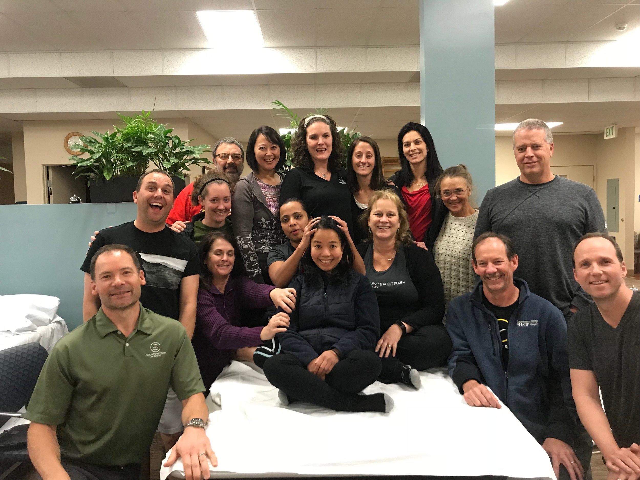 Counterstrain Academy Mod 3, San Diego, 2017  Instructor: Dr.Holly Christen  TA: Greg Zadow