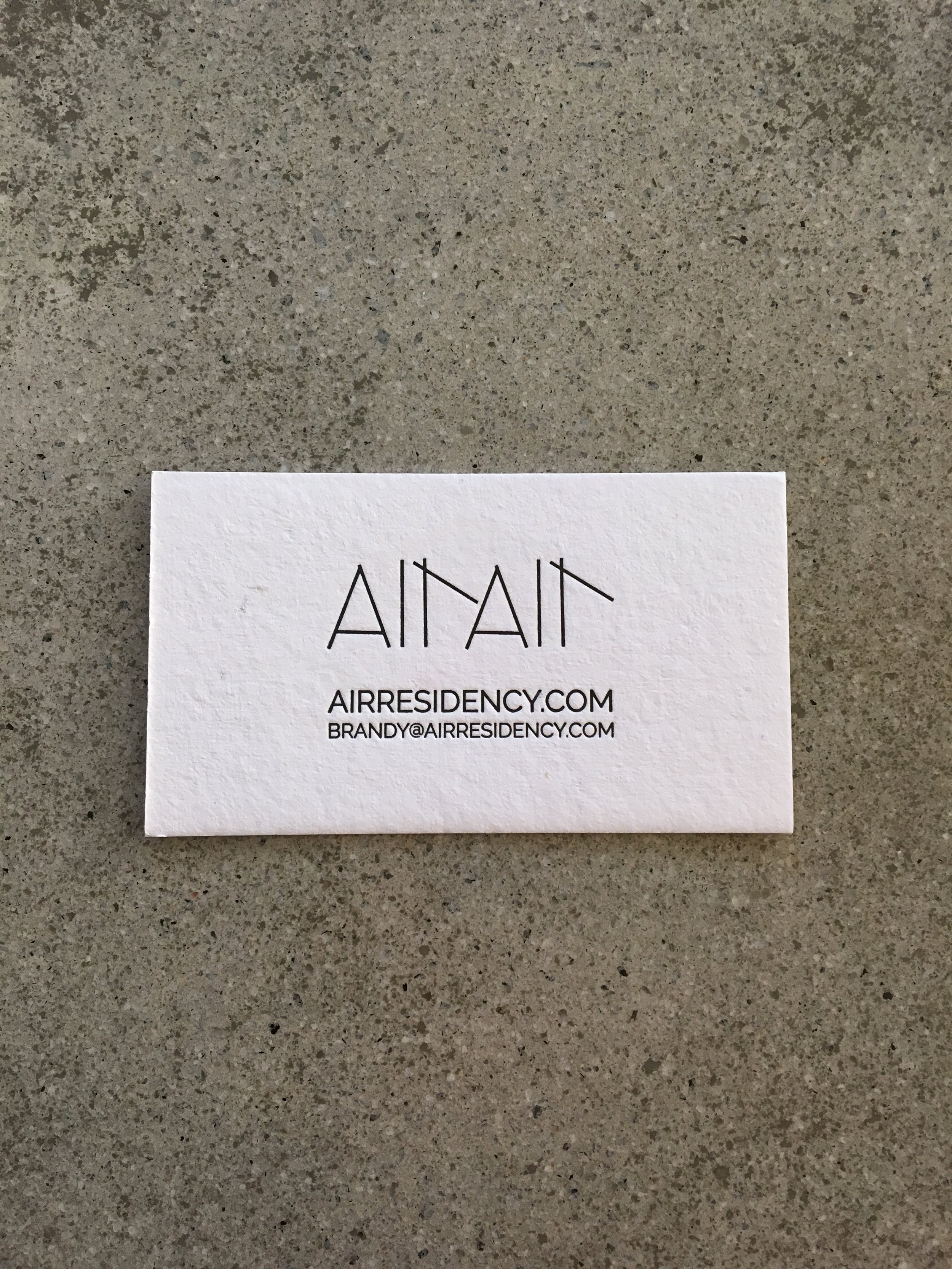 Air Air // letterpress business card (front)