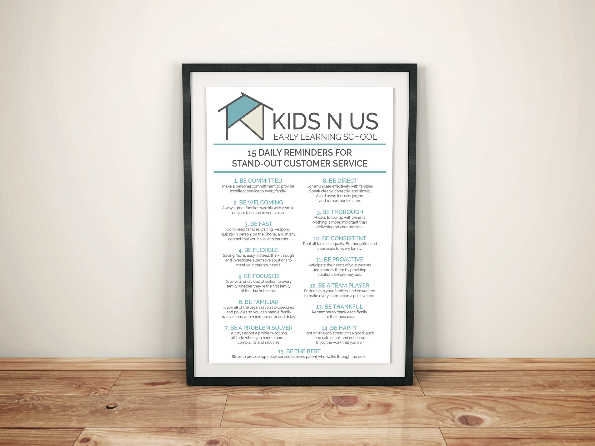 Kids N Us // poster template created for use with in-house designs and announcements.