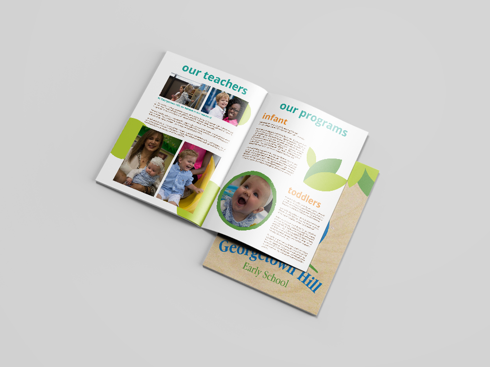 Georgetown Hill Early School // Enrollment information book for new families outlining the school's mission, history, and program offerings.