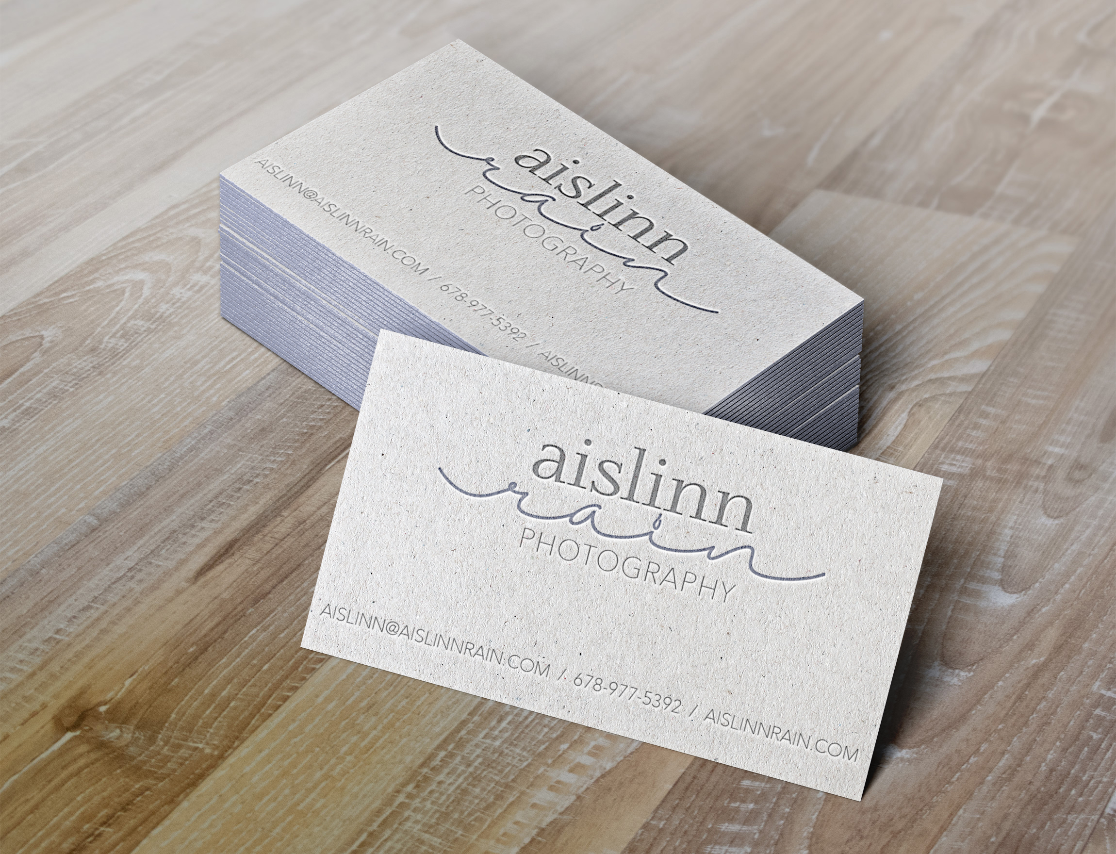 Aislinn Rain Photography // letterpress business card