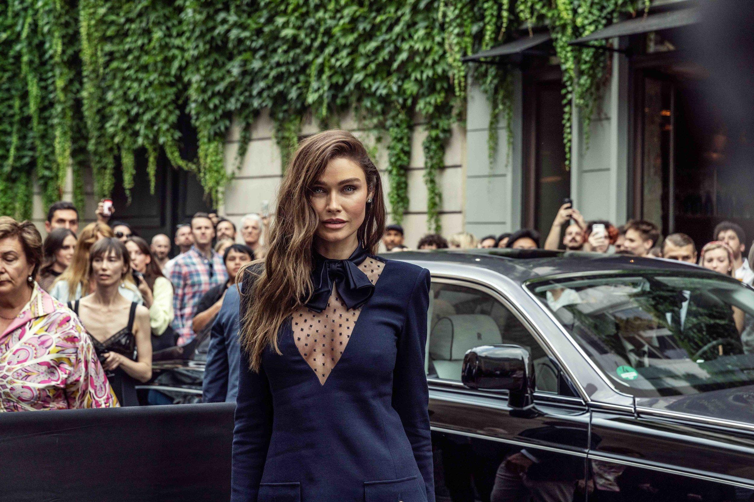 Sarah Mutch at Paris Fashion Week - Haute Couture at Givenchy