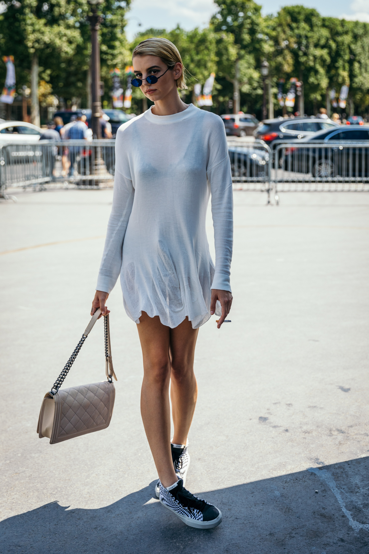 Streetstyle at Chanel during Paris Fashion Week Haute Couture Fall/Winter 2018Photo © Alexis Breugelmans