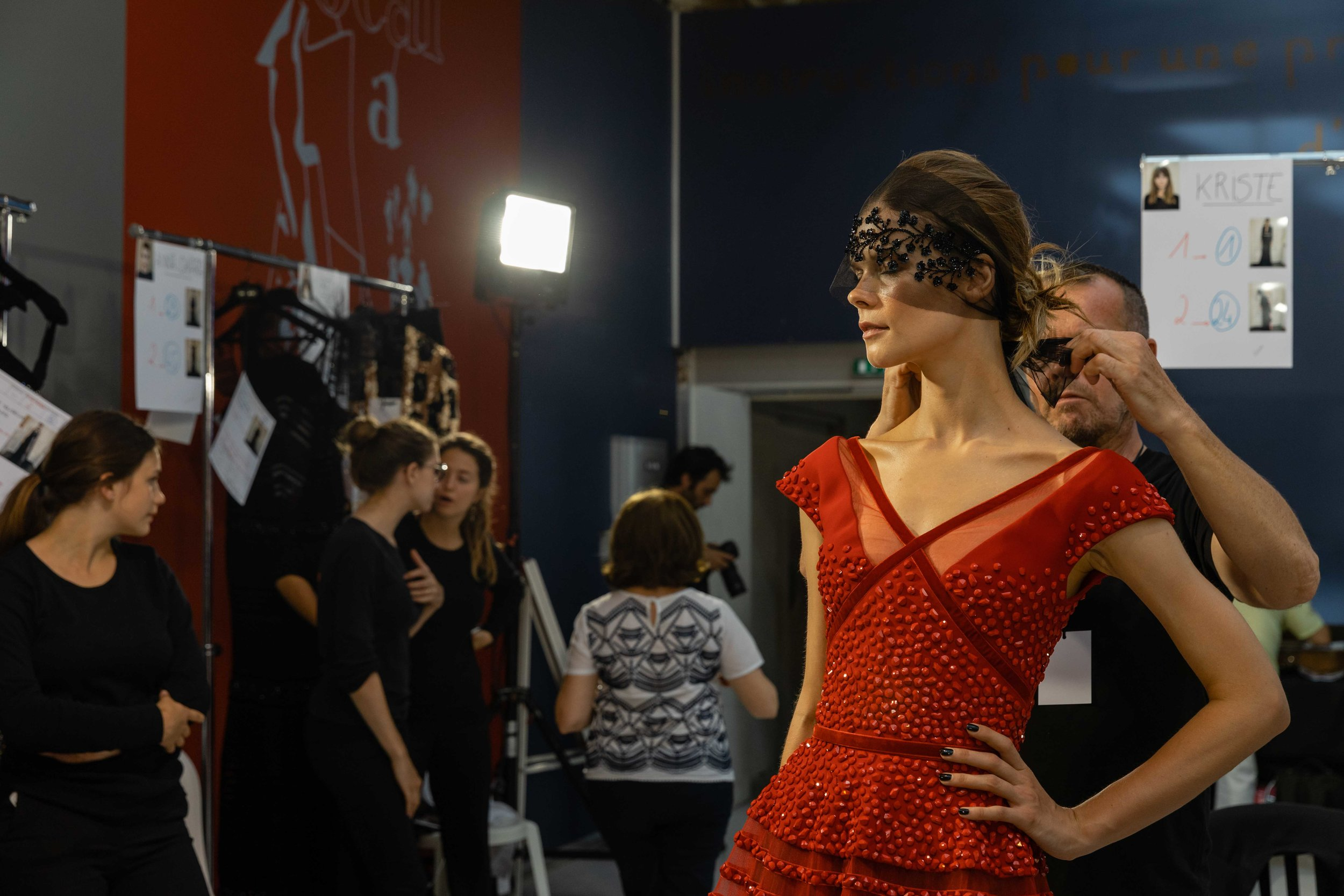 Georges Chakra Backstage - Paris Fashion Week - Haute Couture Fa