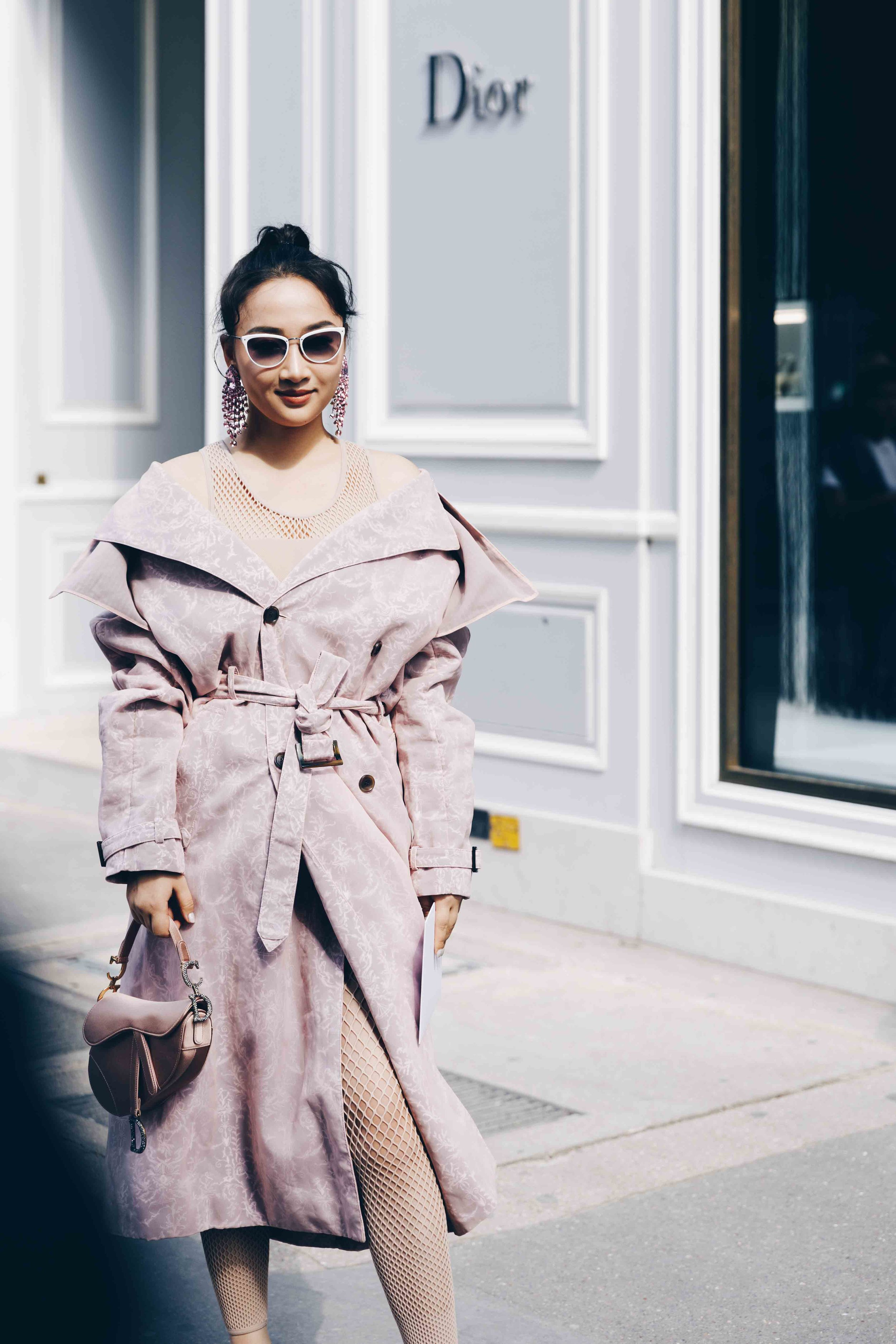 Street style at Dior during Paris Fashion Week Haute-Couture Fall/Winter 2019/2020
