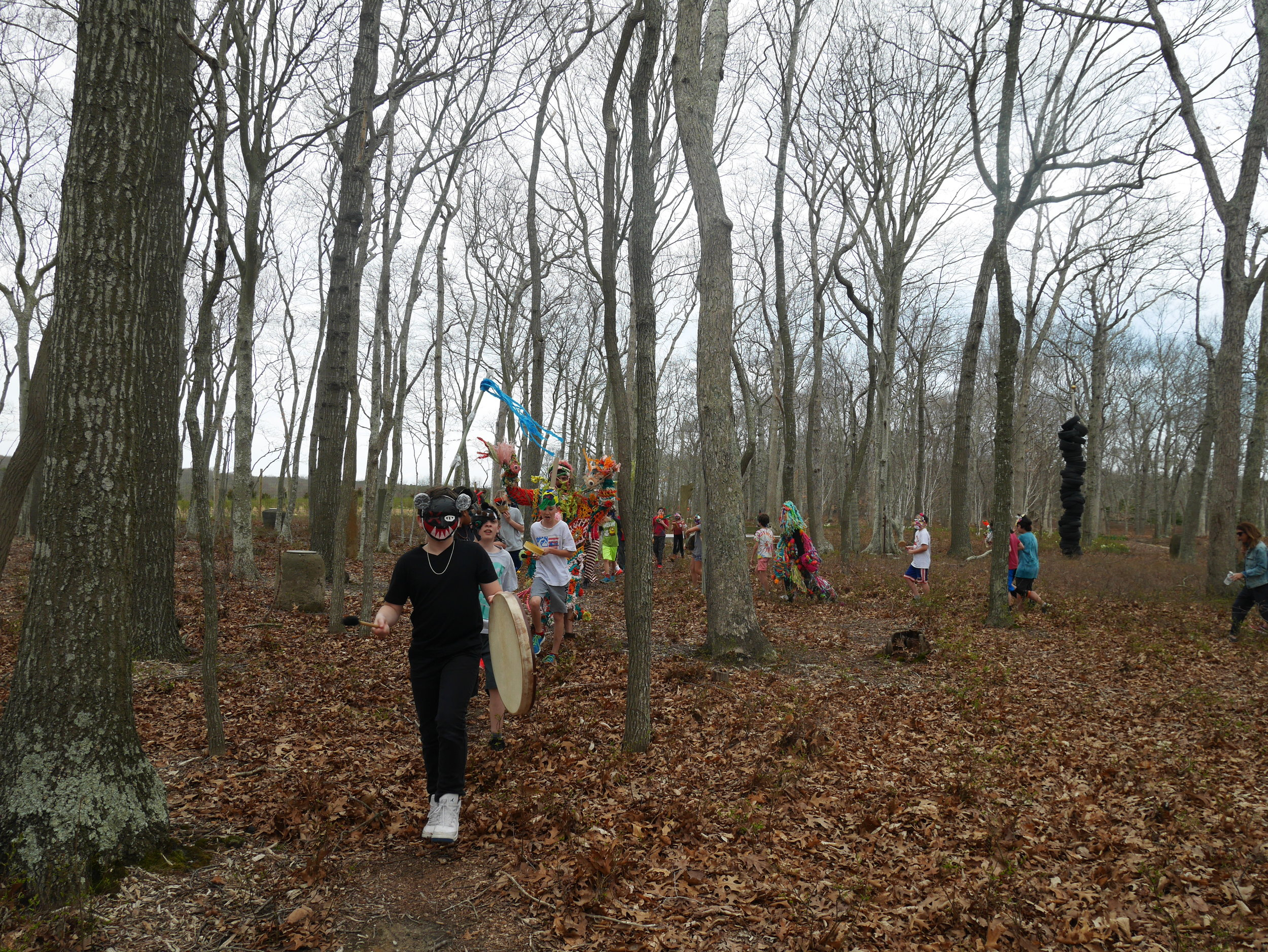 Marching in the beautiful woods...