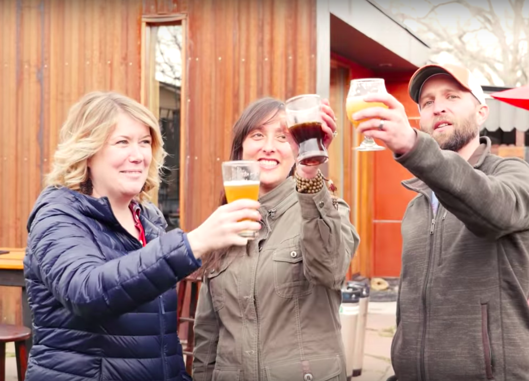 Over Yonder Brewing Company Founders (Ashleigh, Jessica and Jason Bilodeaux)