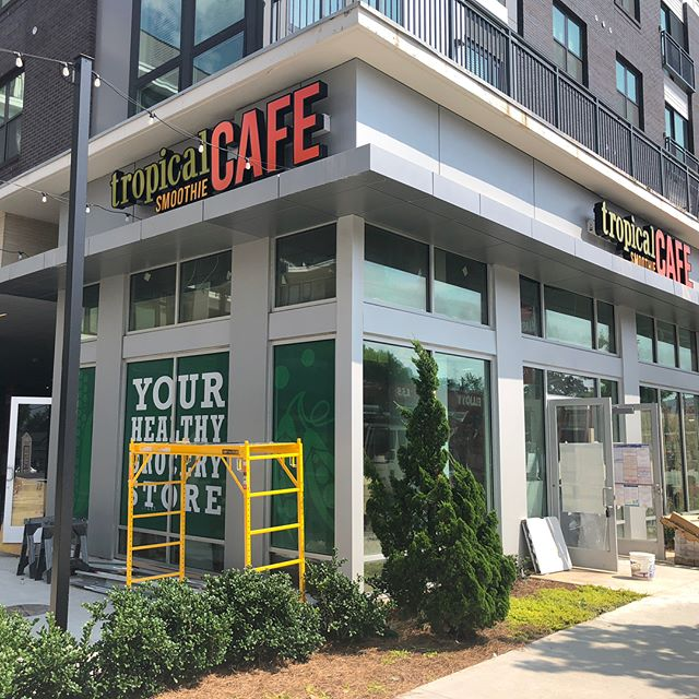 Tropical Smoothie Cafe is coming soon to Midtown by the sprouts! Happy to continue business with our clients! Lets get this cleaned up and ready for opening!