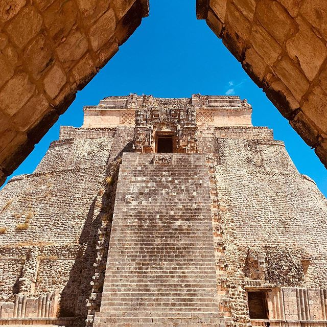 The extraordinary Mayan geometric architecture at UXMAL, built gradually over 500 years from 500 to 1000 C.E.