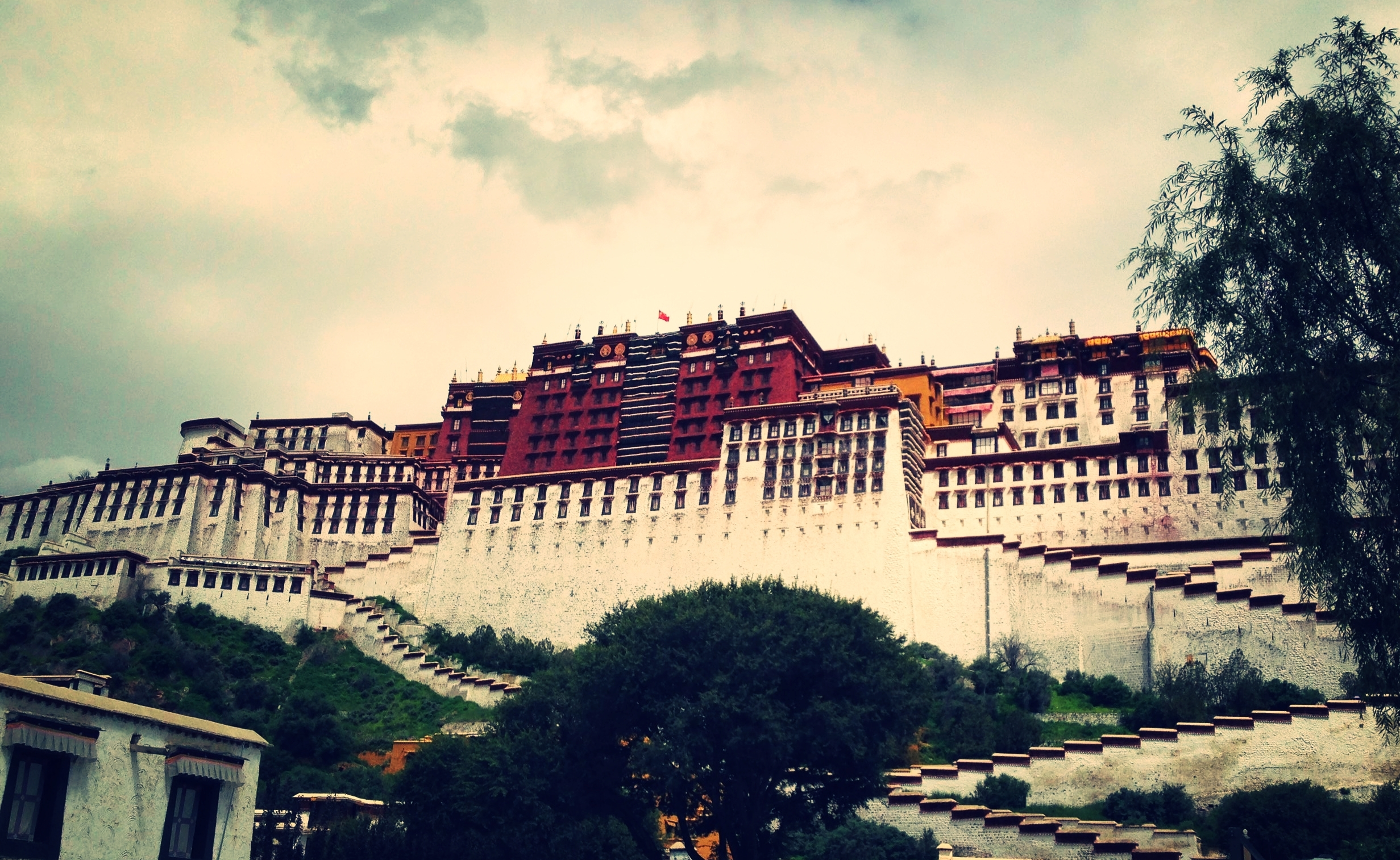 Image of the Potala Palace in Lhasa, Tibet, from Priestess Yeshe's pilgrimage there in 2014.