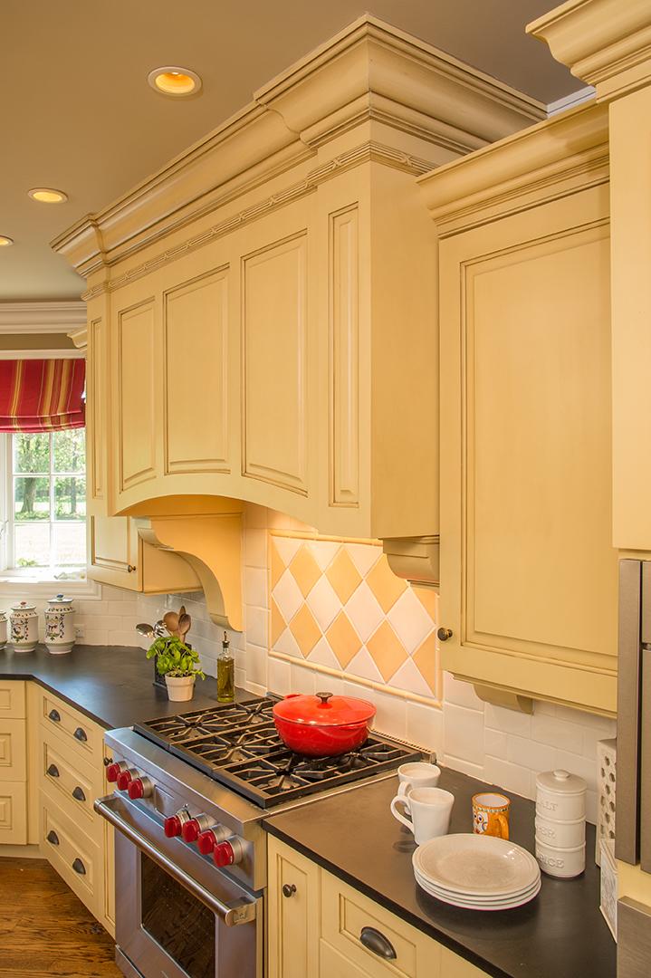 Kitchen interior oven detail