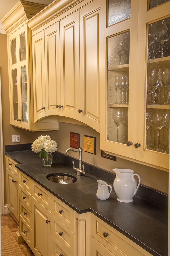 Kitchen interior sink detail