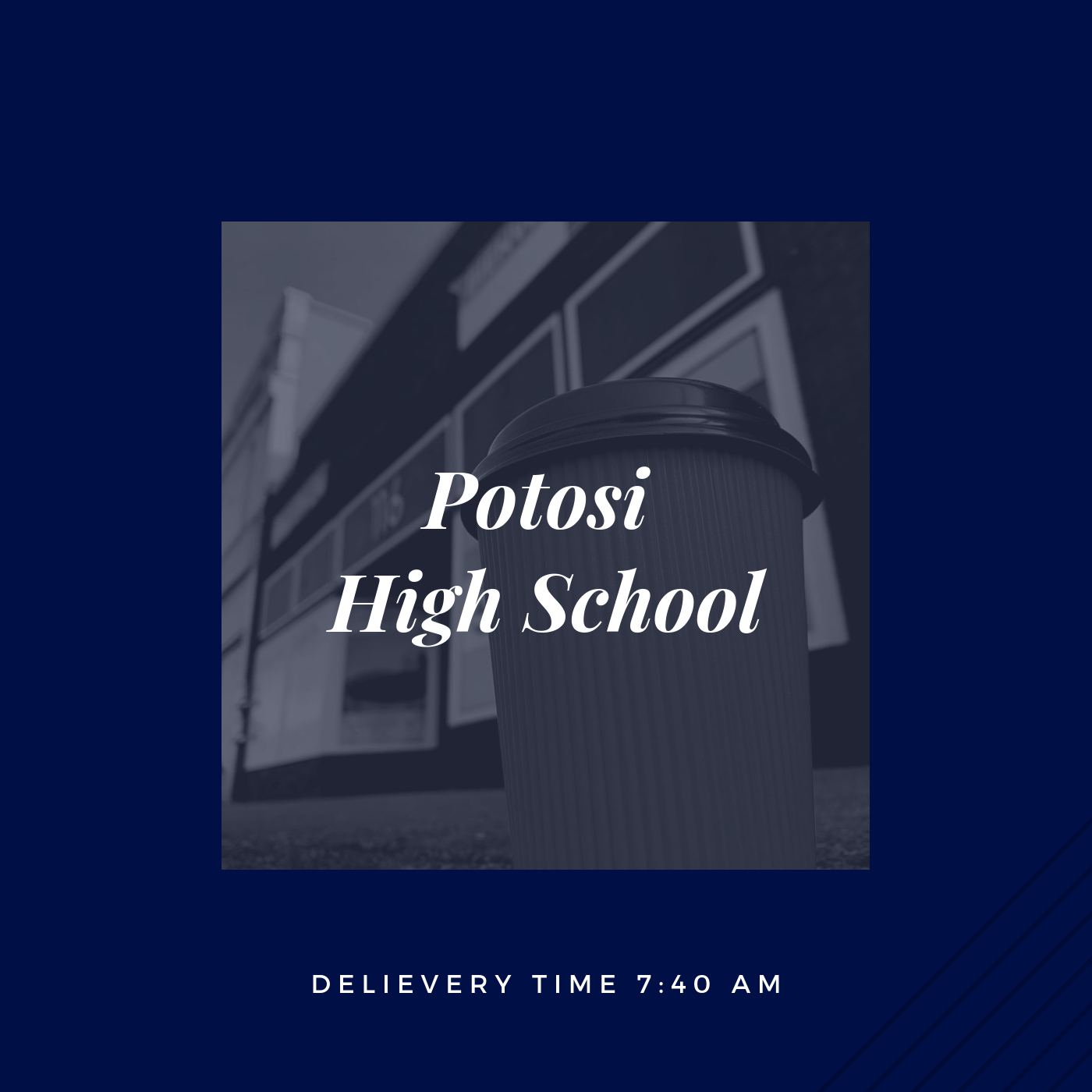 If you are an employee at Potosi High School, please click the picture above to place your order.    *Orders must be submitted before 8pm the evening before. .