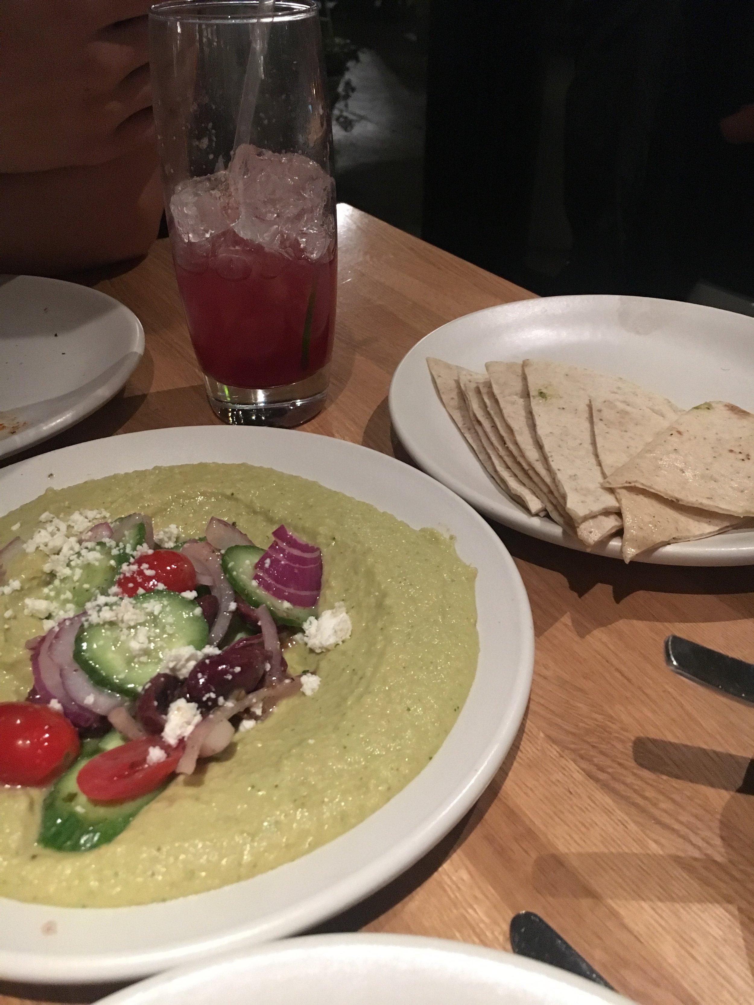 Herb Hummus (VEG) - Hold the feta please.
