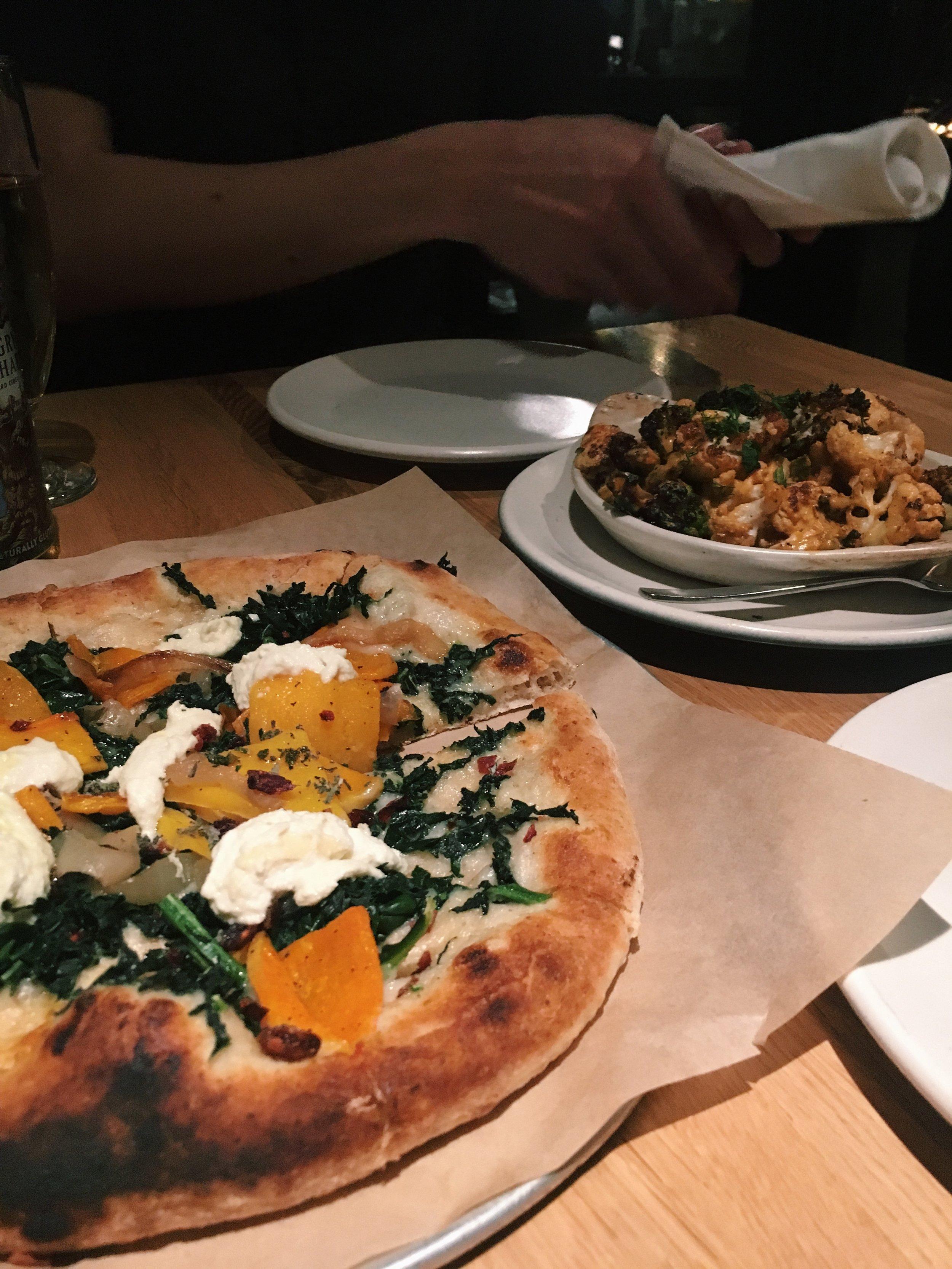 Butternut Squash Pizza (V) -