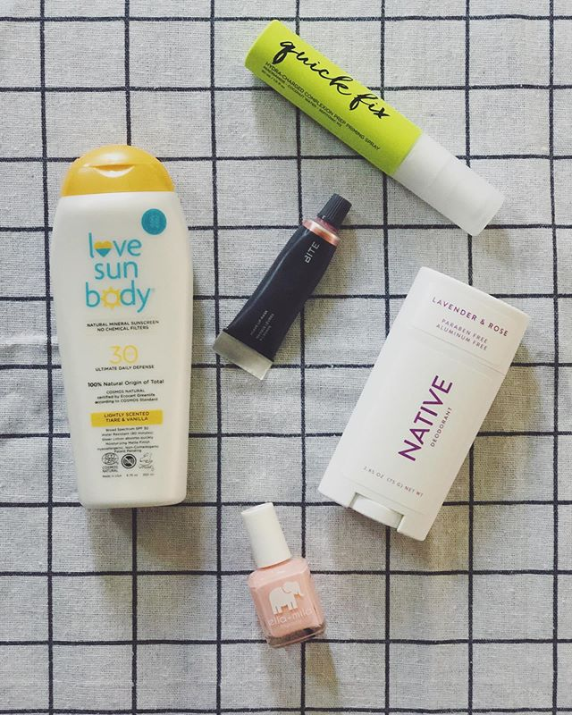 Happy Tuesday! 🌿 I am still boasting about my must-haves summer beauty essentials. 🌿Love Sun Body's sunscreen I use daily because I know it's safe for my skin. Free of harsh chemicals, vegan, and reef safe. ✨ 🌿Urban Decay's Quick Fix Pre Priming is my go-to if I want a dewy & natural makeup look for the day. pro tip: adding this in my nighttime skincare routine has calmed down my rosacea. 🌿Bite Beauty's Agave Lip Mask I use overnight to keep my lips moisturized the next day. 🌿Native Deodorant gives me the peace of mind that my deodorant smells good, lasts all day, and is free of harsh parabens and aluminum. 🌿Ella + Mila's nail polish is my favorite because is vegan & cruelty free. Nuff said.  #notanad
