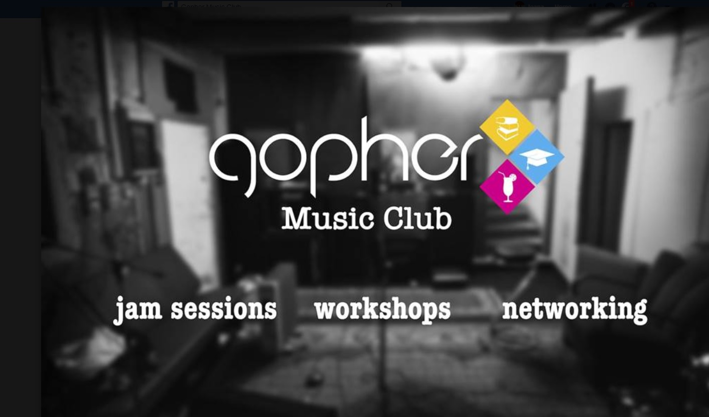 Music Club - Feel the rhythm? Ready to make some noise? GOPHER Music Club is ready to welcome new members, who are willing to practice with fellow musicians and enjoy the club jam sessions.