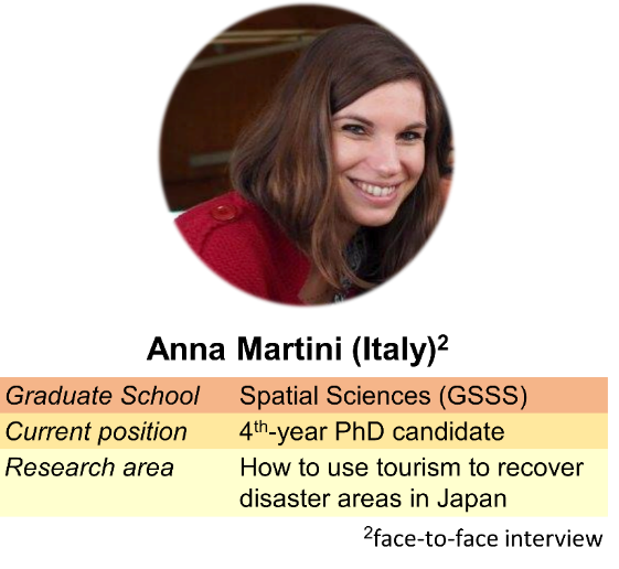 """When I was in Japan, I wanted to visit different disaster areas but did not have funding.Being a tour guide allowed me to combine my work, hobby and passion into one."" - While some of us face a challenge in searching for our passion, Anna's challenge seems to be the opposite – she has passion on so many different things."