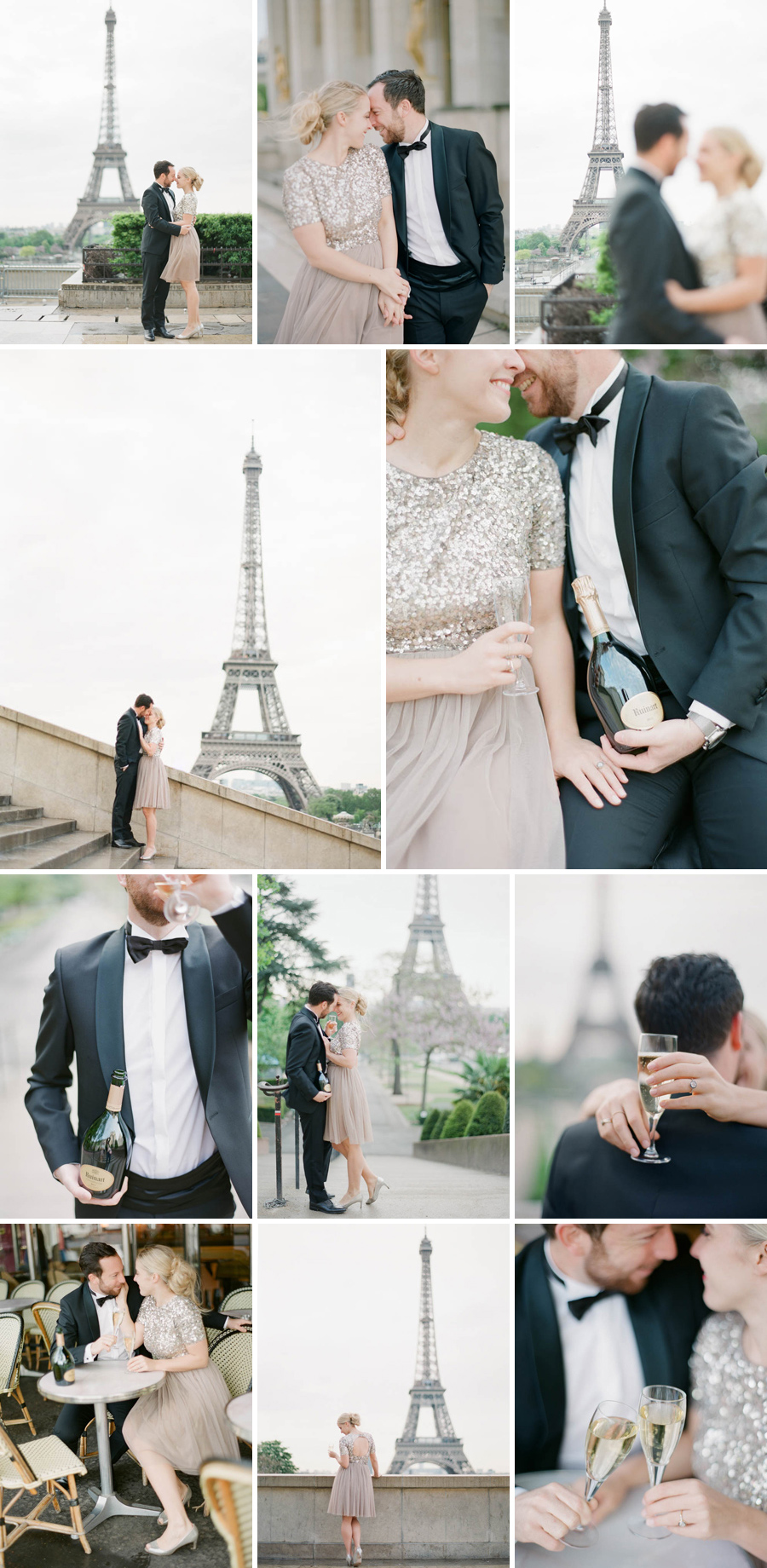 wedding photographer engagement session preceding eiffel tower paris