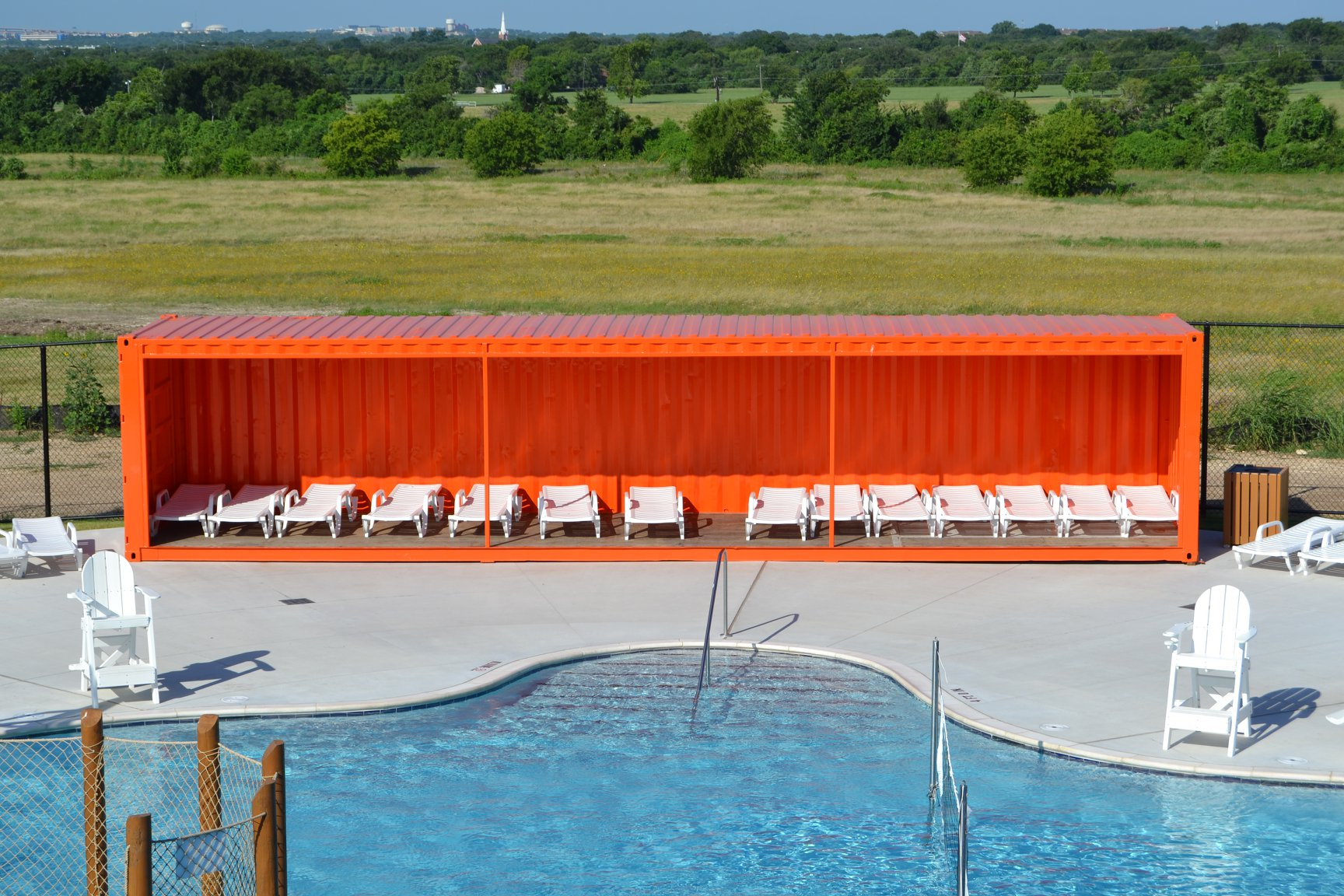 Poolside Overhang
