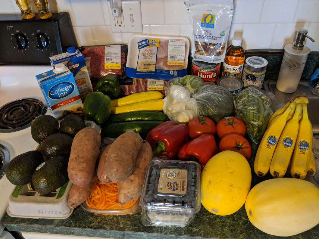 A week of my Whole30 groceries