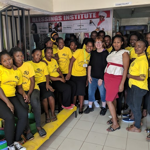 After a presentation on depression and suicide at Blessings Beauty School in Nairobi, Kenya.