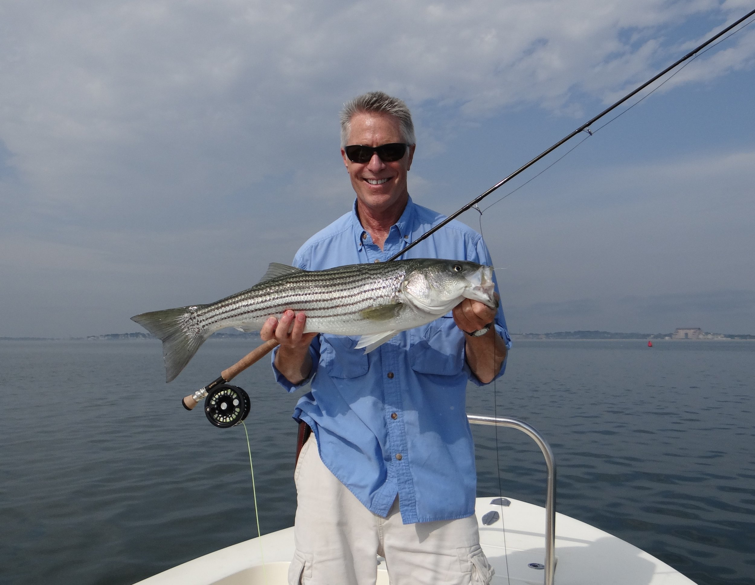 Captain's Report - A little bit about me: I began fishing on the streams, ponds, and lakes in my hometown of Sharon, MA when I was just a kid.I have been fishing in salt waters for over 30 year and I have been guiding fly and light tackle anglers on Boston Harbor going on 20 years. It has been my great privilege to guide and get to know anglers from all over the world. Fly fishing is my passion and I love to share it with my customers. When I am not fishing, I am a practicing psychotherapist and musician.
